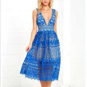 Blue Midi Dress OFFER 50% OFF FOR A LIMITED TIME